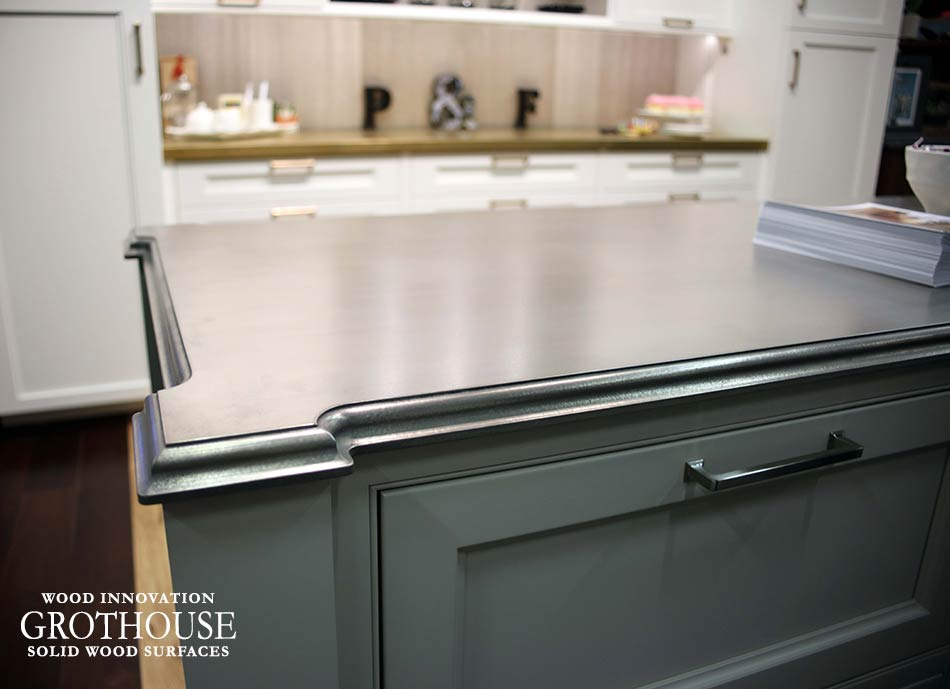Anvil Palladium White Gold Metal Countertop in NYC