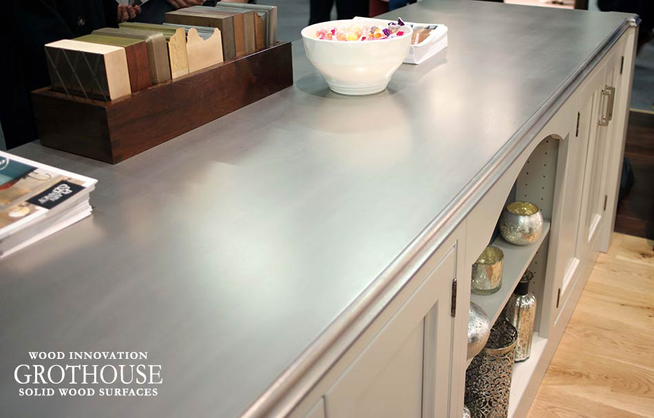 Anvil Palladium Metal Countertop for a kitchen in New York