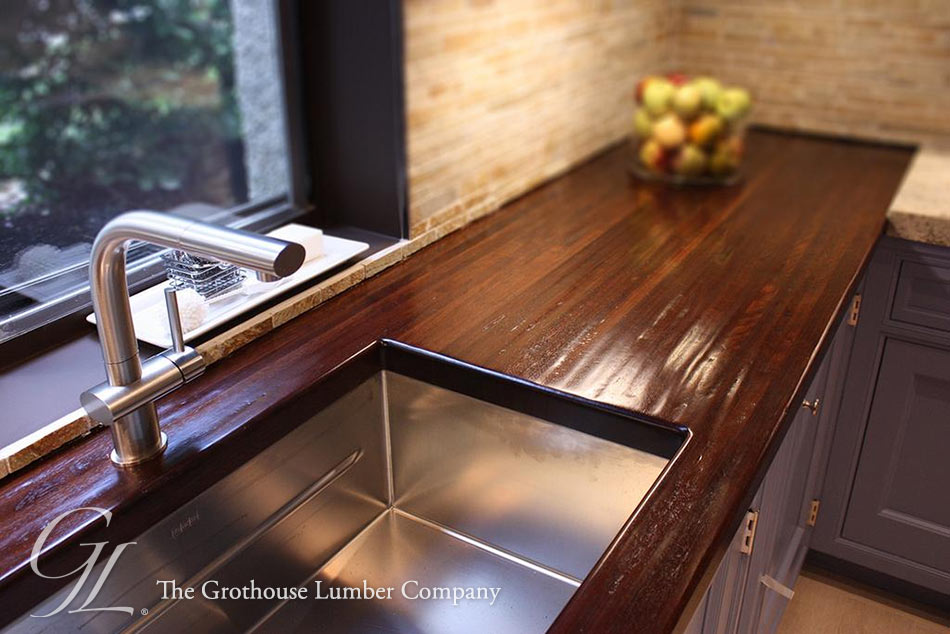 Hand Planed Peruvian Walnut Countertop In Virginia