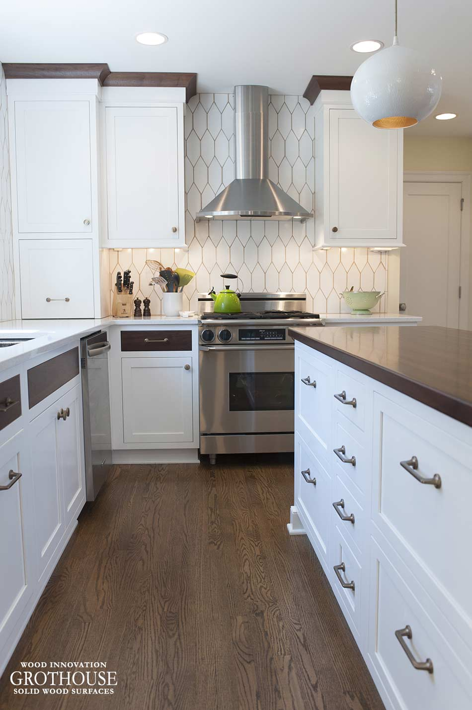 Peruvian Walnut Wood Countertop in Delaware