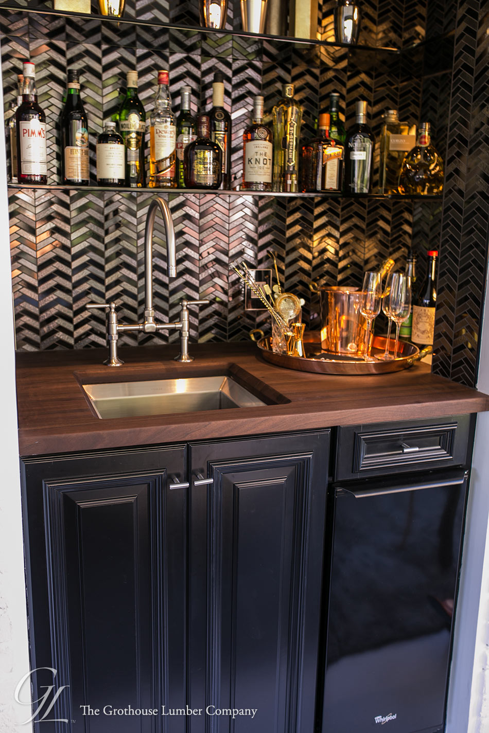 Walnut Countertop for Bar Area in KOTY 2014