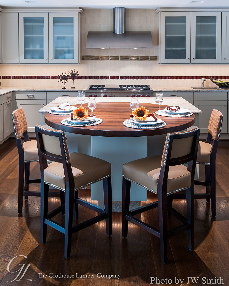 Peruvian Walnut Wood Countertop In Potomac, Maryland
