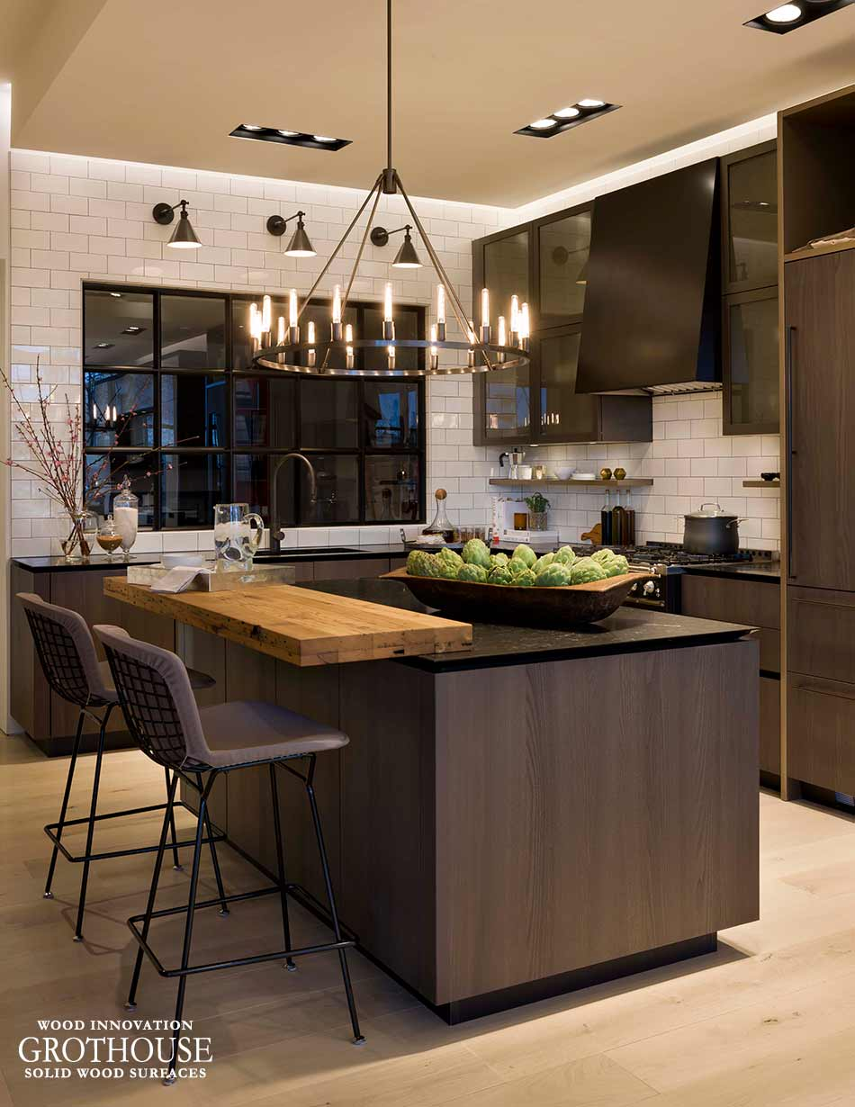 reclaimed chestnut kitchen island bar top in alexandria va. Black Bedroom Furniture Sets. Home Design Ideas