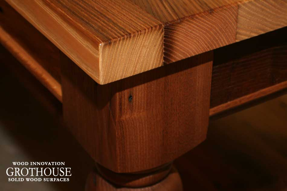 Antique reclaimed chestnut wood table in east hampton ny for Reclaimed wood new york