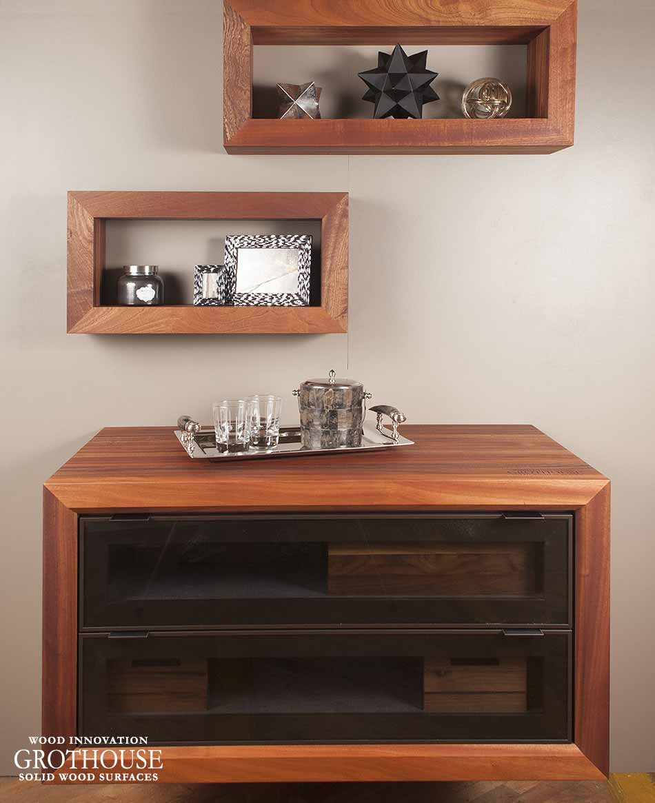 Sapele Mahogany Shadow Boxes & Cabinet Surround in Ephrata, PA