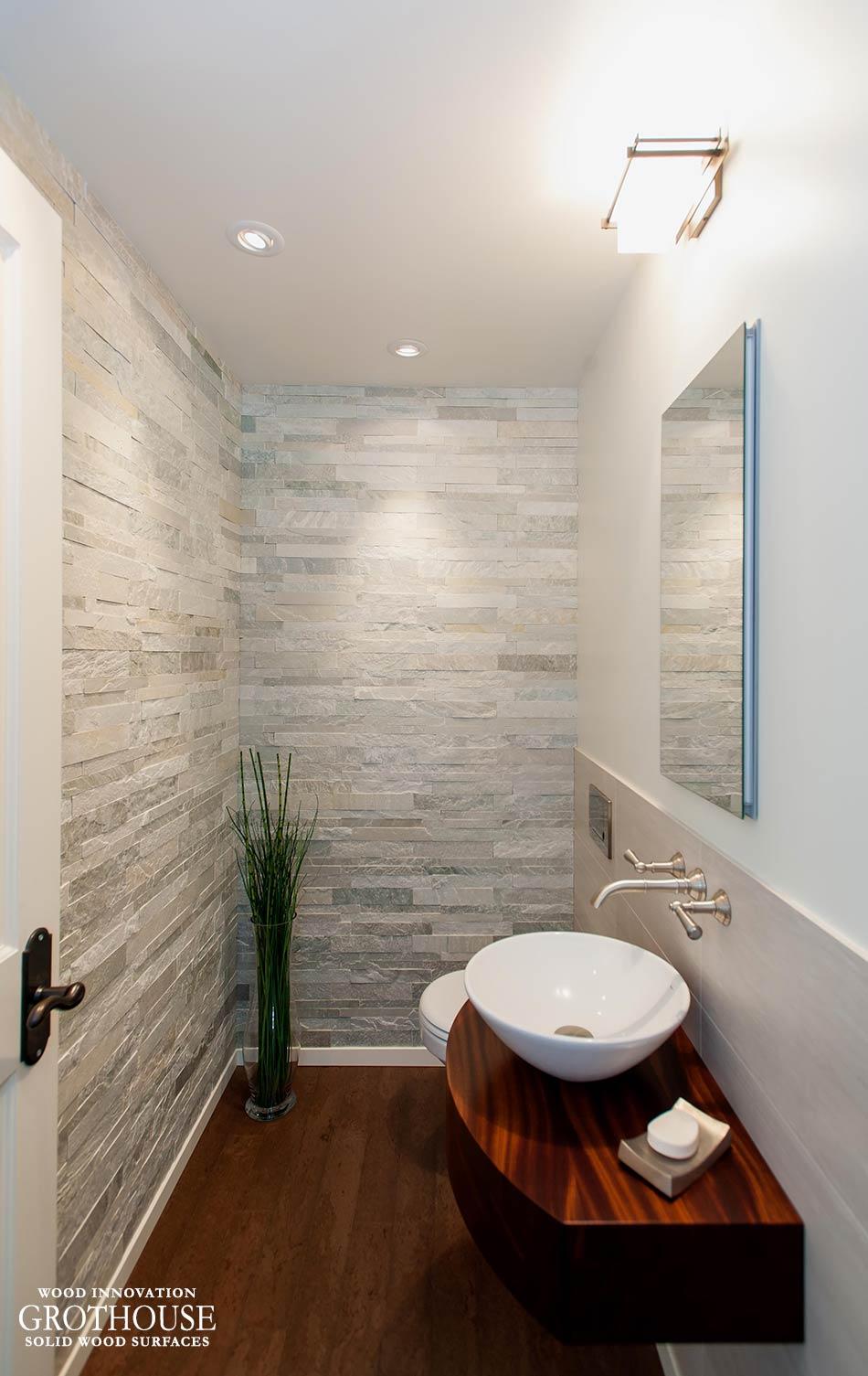 Sapele Mahogany Wood Bathroom Counter In Washington