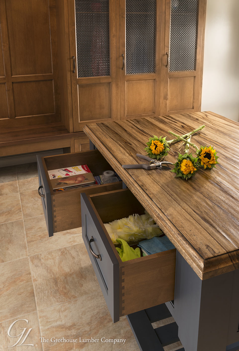 Grothouse Custom Saxon Wood™ Island Countertop