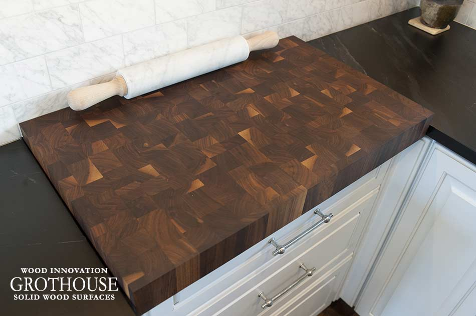 Random Mix Walnut Butcher Block Cutting Board