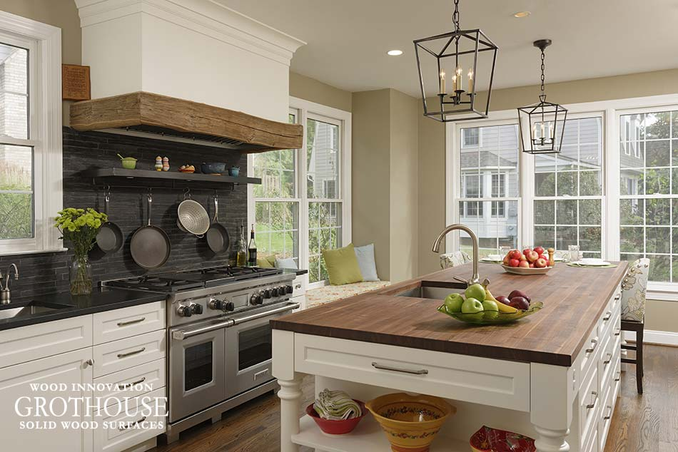 Walnut Kitchen Island Top in Cabin John, MD