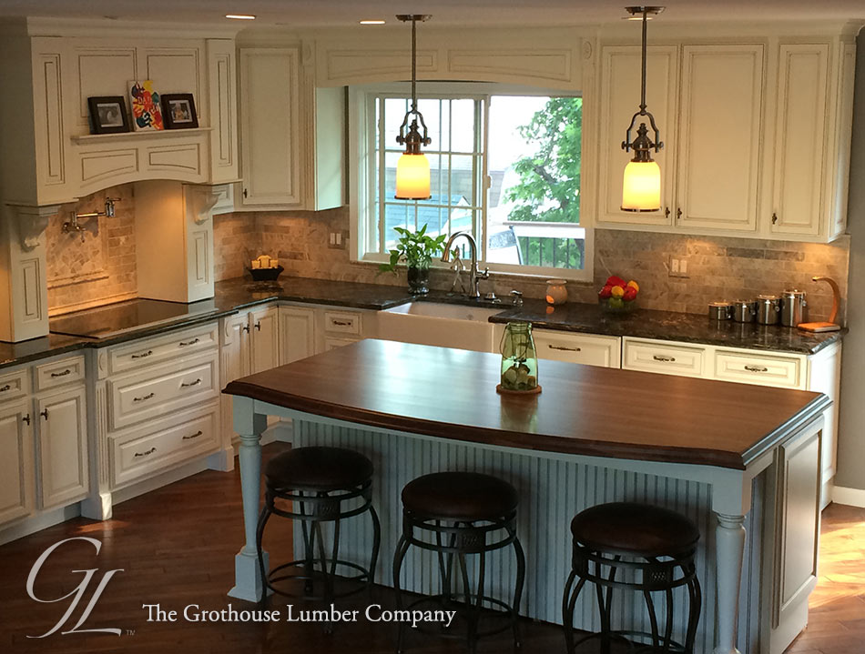 Custom Wood Kitchen Islands Mesmerizing Custom Walnut Kitchen Island Countertop In Columbia Maryland Inspiration Design