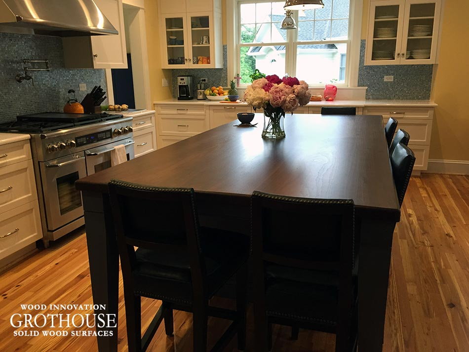 Walnut Kitchen Island Countertop Ideas in Falls Church, VA