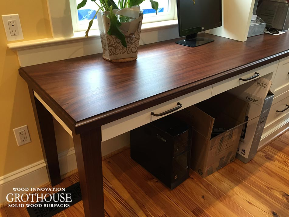 Custom Wood Desk Top in Falls Church, Virginia