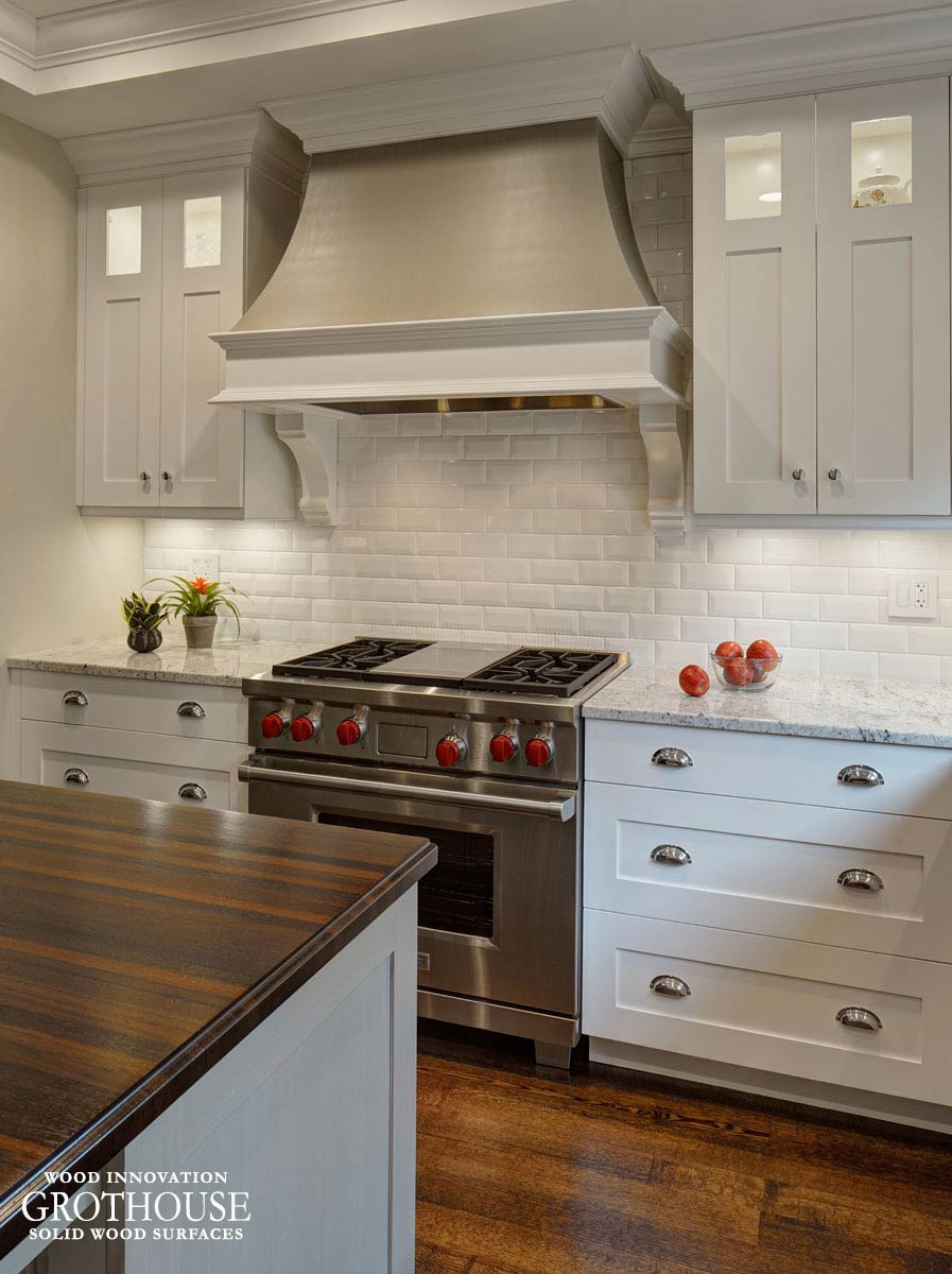 Wenge wood kitchen island countertop in glen ellyn il for Wenge kitchen designs