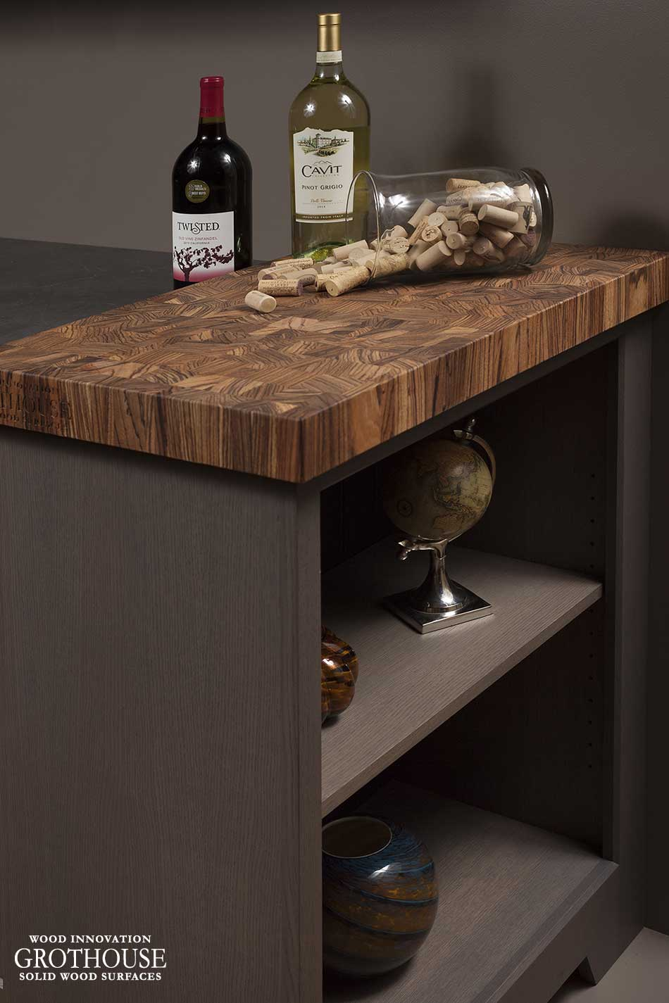 Zebrawood Butcher Block Countertop in Ephrata, PA