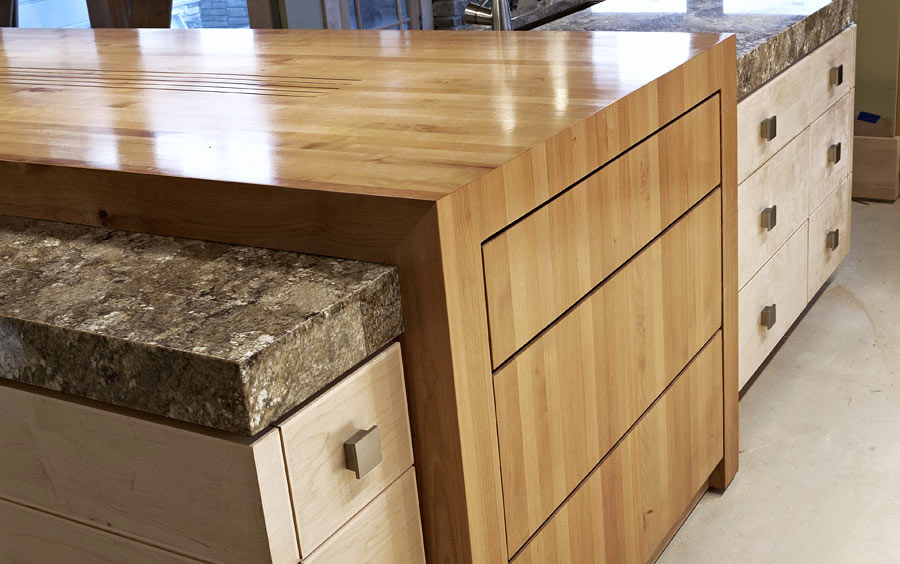 Alder Wood Countertop Butcher Block Countertop Bar Top