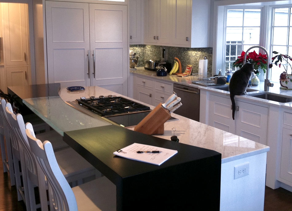 Ash Wood Countertops with Dark Black Stain in Ohio
