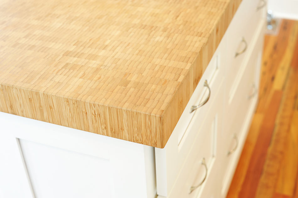 Bamboo butcher block countertop