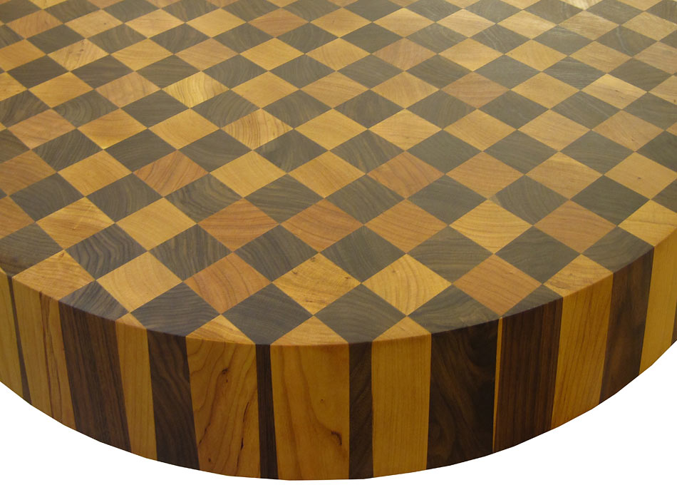 Walnut With Cherry Checkerboard Butcher Block