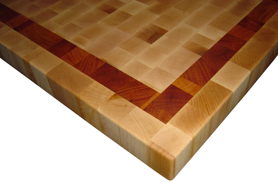 butcher block countertops with patterns by grothouse. Black Bedroom Furniture Sets. Home Design Ideas