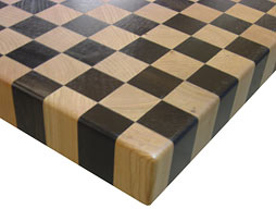 Wenge with Cherry Checkerboard Butcher Block Countertop Photo