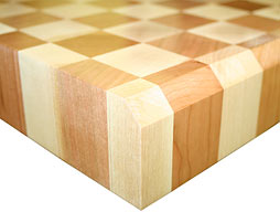 Maple with Cherry Checkerboard Butcher Block Countertop Photo