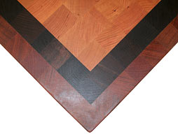 Custom Cherry Butcher Block Countertop with Inlaid Stripes