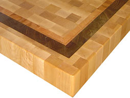 Custom Maple Butcher Block Countertop with Inlaid Stripes