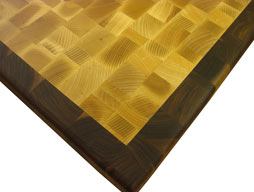 Maple Butcher Block Countertop with Walnut Border