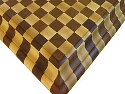 Checkerboard Butcher Block of Brazilian Cherry with Maple