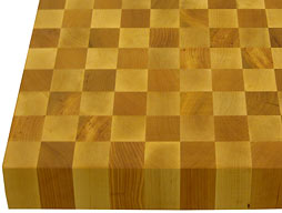 Checkerboard Maple with Cherry Sapwood Butcher Block Photo