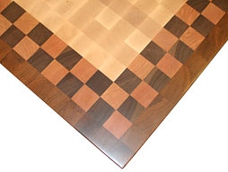Butcher Block with Checkerboard Stripe and Border