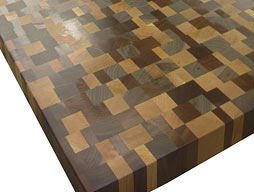 Random Mix Cherry, Walnut, Sapele Mahogany Butcher Block
