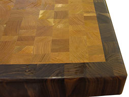 Random Mix Cherry Butcher Block with Walnut Border