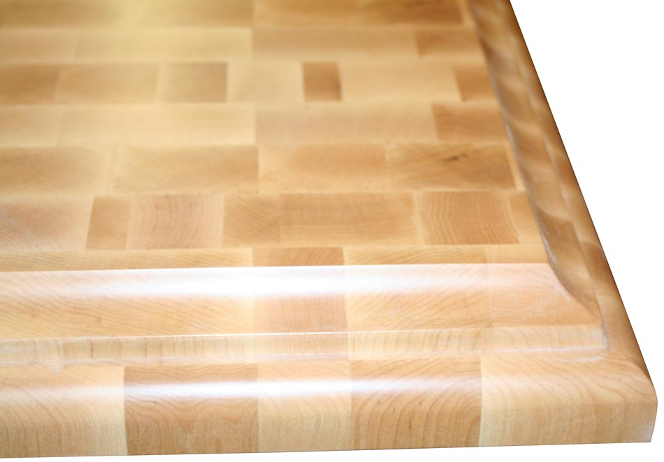 Custom butcher block countertops by grothouse for Maple slab countertop