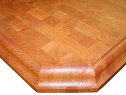 Custom Cherry Butcher Block Countertop Photo