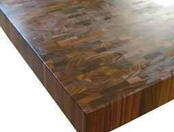 Custom Bolivian Rosewood Butcher Block Countertop Photo