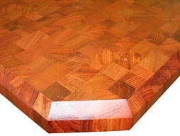Custom Brazilian Cherry Butcher Block Countertop Photo