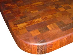 Brazilian Cherry Butcher Block Countertop Photo