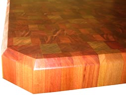 Santos Mahogany Butcher Block Countertop Photo