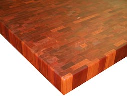 Custom Santos Mahogany Butcher Block Countertop Photo
