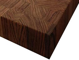 Zebrawood Butcher Block Countertop Photo