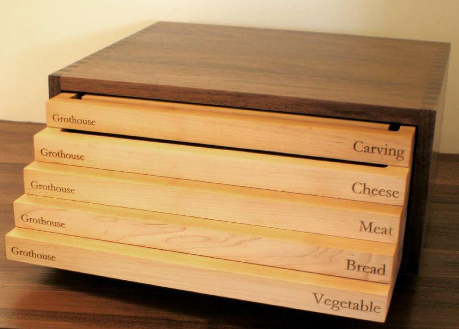 Prestige Chef Box Wood Cutting Boards Exclusive at Grothouse