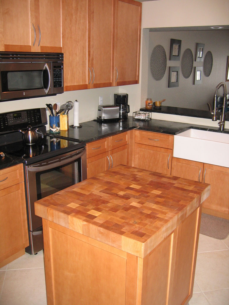 Butcher block countertop by grothouse