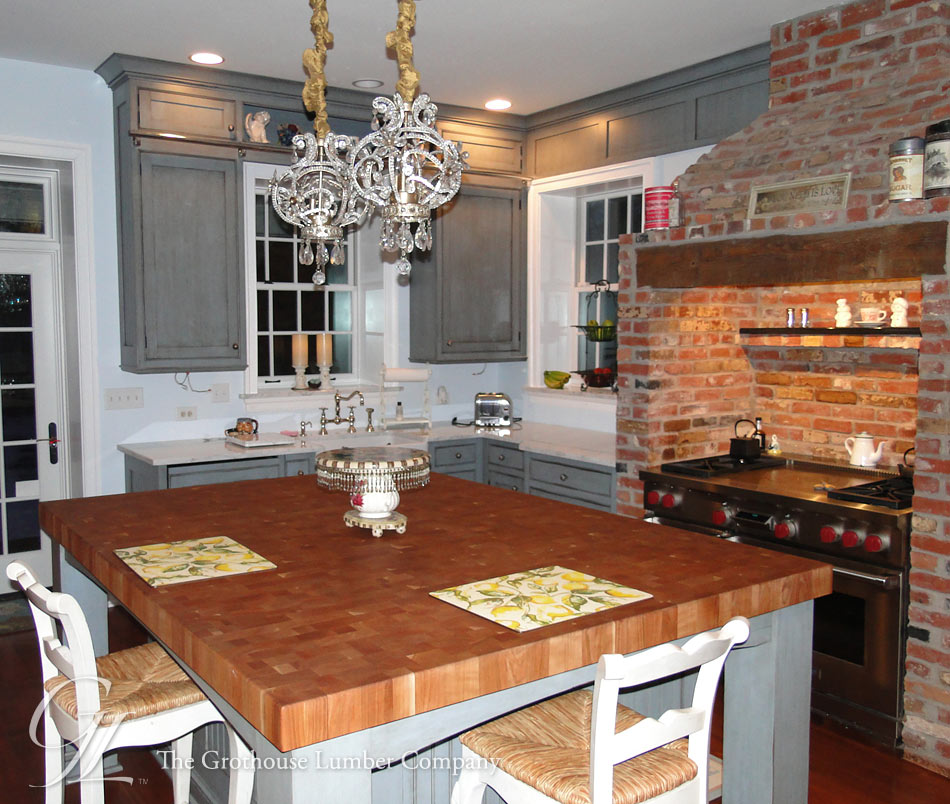 ... Wood Butcher Block Countertop for large kitchen island in New Jersey