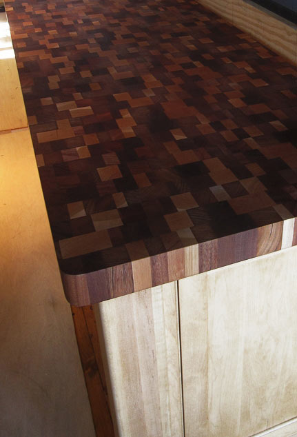 Random Mix Butcher Block Countertop in NH