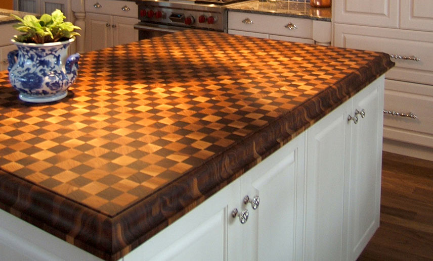 Large Cherry With Walnut Butcher Block Countertops Maryland