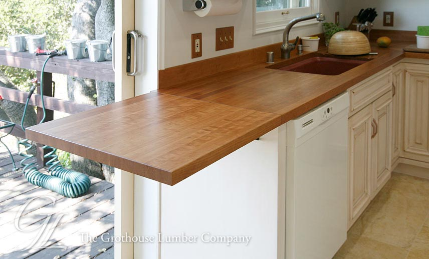 Custom Cherry Wood Countertop In Oakland California