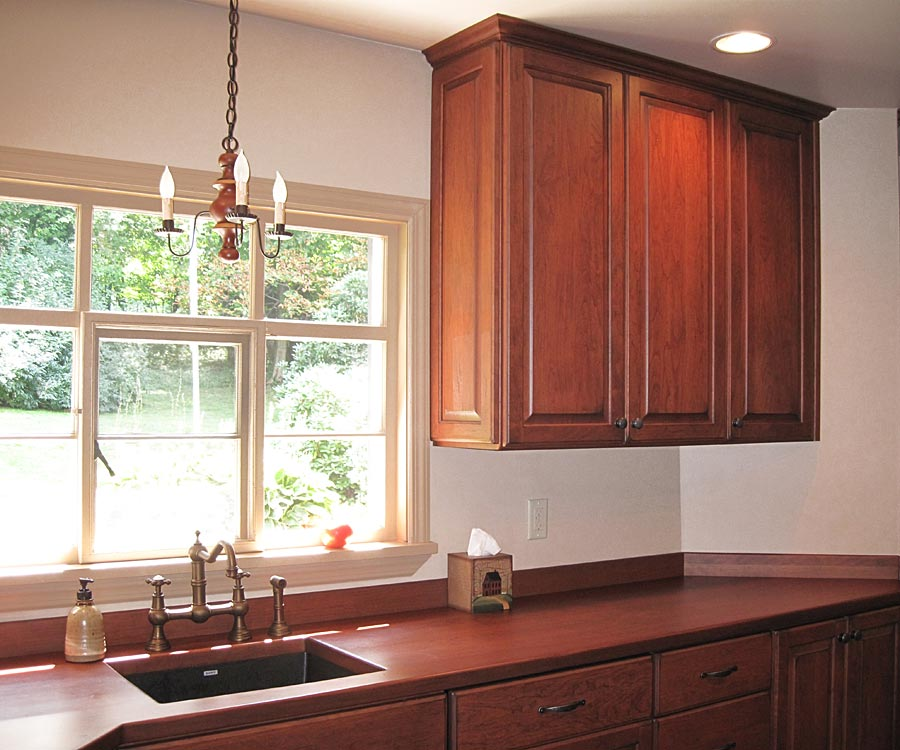 Custom Cherry Wood Counters in Oakmont, PA