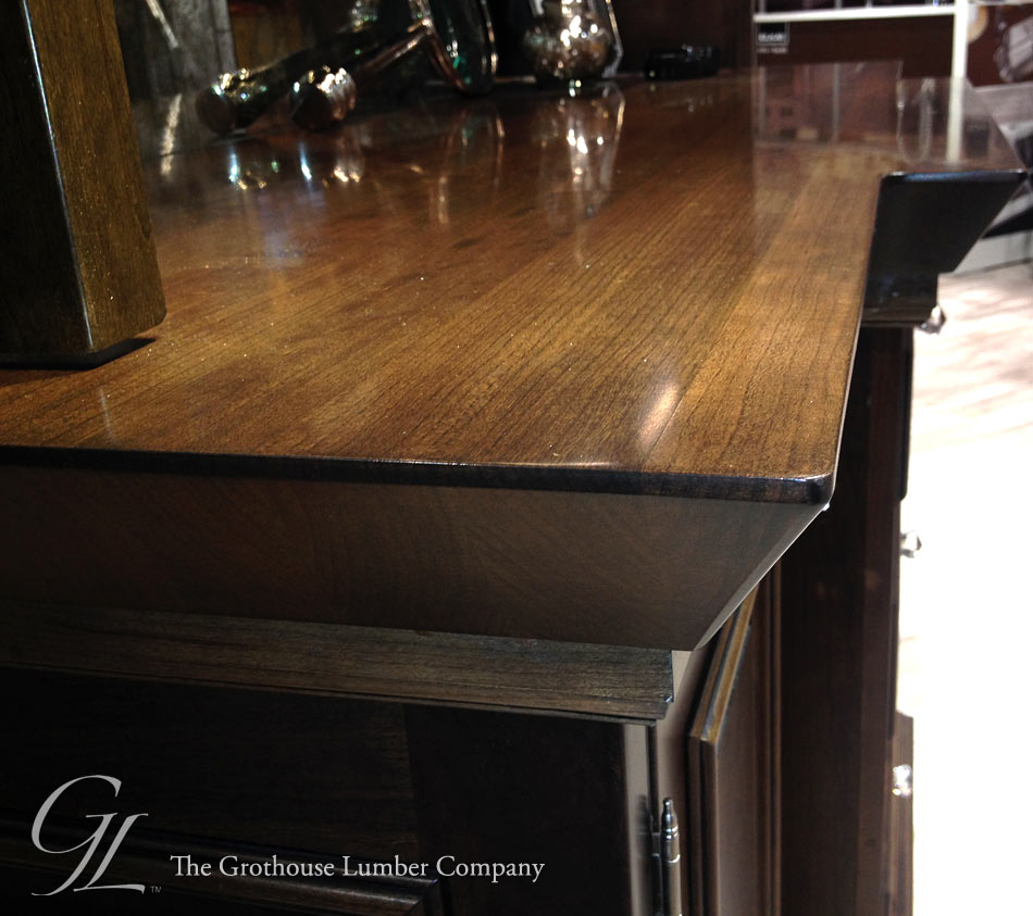 Custom Stained Cherry Wood Countertop displayed at KBIS 2014