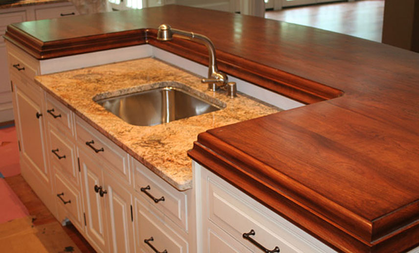 American Cherry Wood Raised Kitchen Island In Philadelphia Pa